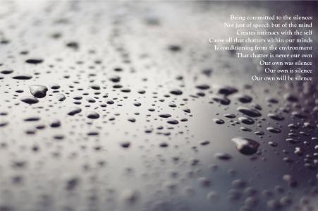 black white droplets